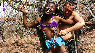 skinny african bdsm safari girl