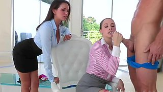 Sexy female boss and her as###tant wants his rock hard cock