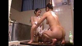 Lesbian nude bath 4