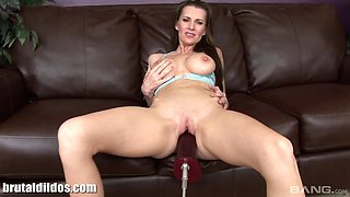 Solo senorita has her pussy penetrated by some of the biggest toys