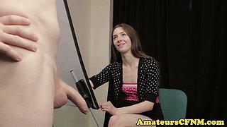 British cfnm amateur sucking male models cock