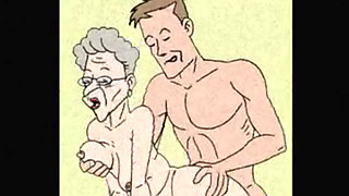 Granny anal sex animation