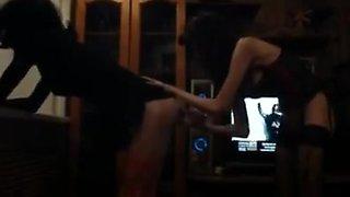 Dildo play with a crossdresser