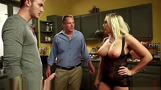 Wife cockulds husband to fuck his son
