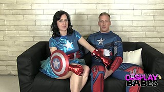 Sexy bitch Honesty Calliaro gets drilled by horny Captain America