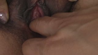 Japanese hussy Ai Serizawa gets her clit squeezed by kinky wanker