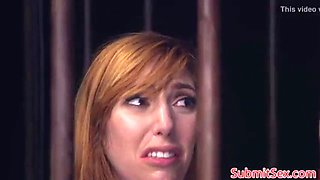 Redhead actress forced anal bondage