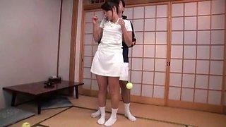 Marika Tsutsui, Mio Fujii, Erika Nishino in Wife Went to Tennis School part 3