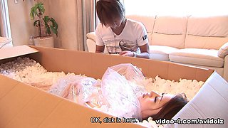 Iori Mizuk in Perfect maid Iori Mizuki gets delivered in mail to please her master - AviDolz