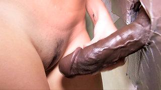 Teen Kimberly Gives Blowjob To A Big Black Cock - Gloryhole