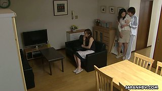 Ardent Japanese brunette MILF Nanako Misaki has nothing against toy fucking