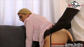 german female teacher big tits facial on glasses