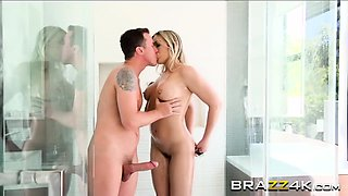 Blair Williams gives head and pounds in bathroom