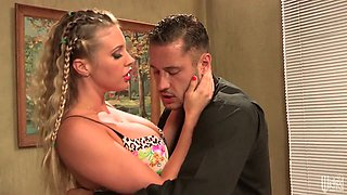 Luxurious blonde Samantha Saint gets banged like there's no tomorrow