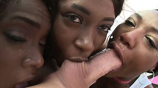 SWALLOWED Ana, Chanell and Skyler triple deepthroat time
