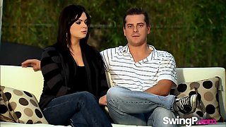Hot young couple learns what a swinger party really is