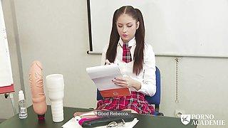 PORNO ACADEMIE - School girl Rebecca Volpetti anal fucking