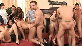 Incredible dirty orgy with married ladies and cuckold hubbies