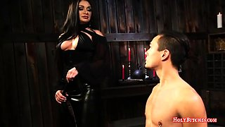 Mistress Fucks Male Slave's Ass