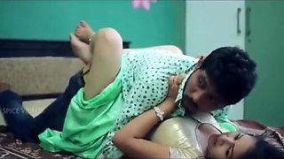 Hot figure Mamatha Romance touch by legs