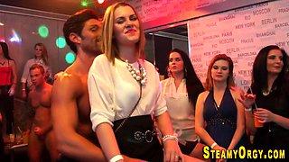 Teens suck at cfnm party