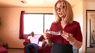 Get ready to cum when the wet and wild, glasses wearing blonde MILF,