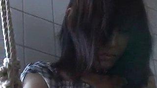 Asian slut slave being tied up needs to get punished