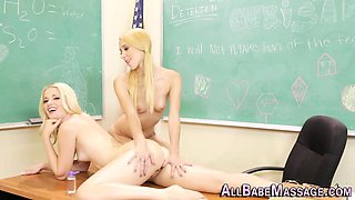 Lesbo teacher massaged