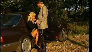 Fantastic mature German blondie eats dick and craves for anal sex