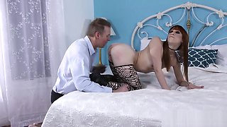 Slutty emo doll loves a raging rod in her tight asshole