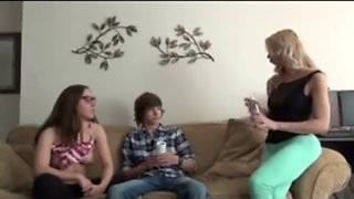 2 Sisters Jerk Off Their Brother - Watch Part2 on SLUT9,COM