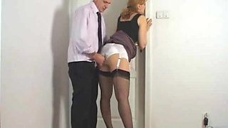 kirsty secretary jerk on ass