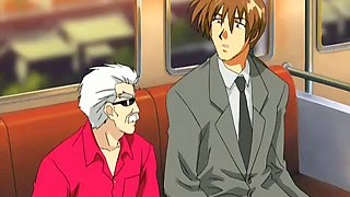 Public fuck in the subway train hentai cartoon