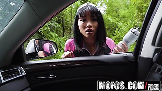 Mofos - Stranded Teens - Rina Ellis - Half Asian Cutie Fucks