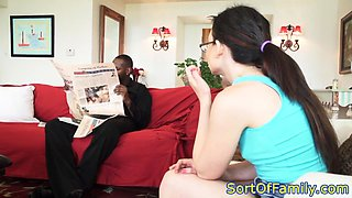 Spex stepdaughter plowed by stepdads bbc