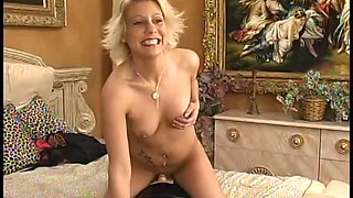 Sexy woman plays with her naked hot body