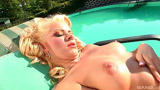 Sunny is a hot blonde who cannot resist a hunk's huge member