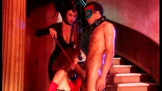 Hot mistress Laura Angel wants this couple to entertain her