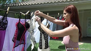 Mommy Takes Care Of The Laundry And A Hard Cock