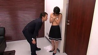 Incredible Japanese whore Nana Nanaumi in Exotic Secretary, Cougar JAV movie