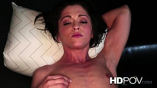 HD POV Gymnast rubs clit gets fucked from behind