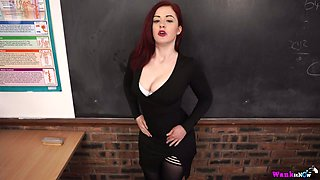 Red haired nasty teacher Jaye Rose is fucked right on the table in hot pov clip