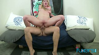 This fine ass blonde needs some cowgirl anal insertion and she is so wild