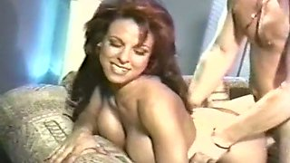 Mesmerizing and fine redhead milf boned hard on the couch