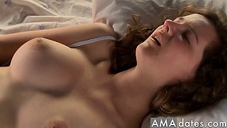 Beautiful girl masturbating for real