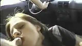 Blowjob - Swallow In Car