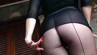horny german milf in pantyhose