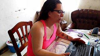 Laura y su portatil