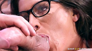 Tattoed goddess gets hardcore fucked in the office