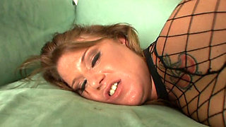 PAWG gets her cougar ass IR anal creampied